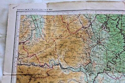 1910-1941 Antique Bartholomew's half inch map - GB sheet 23 N. Shropshire 5