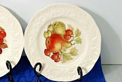 "LOT of 4 Mason's Oak Fruit Center Embossed Edge 8"" Salad Plates. England 3"