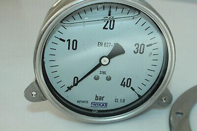 1.0-0bar Manometer 10-06-04-0BAR NEU WIKA Econosto Ø10cm