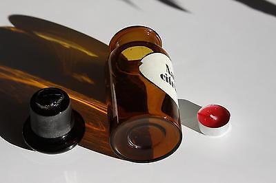 Apothekerflasche, Form selten, rund, alt, NATR. CITRICUM, SCHLIFF STOPFEN breite 3