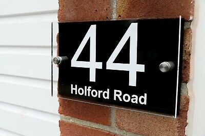 ACRYLIC Contemporary HOUSE SIGNS / PLAQUES / DOOR NUMBER 3