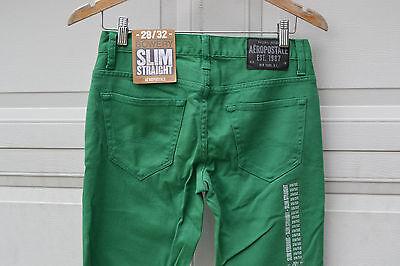 Mens Men/'s AEROPOSTALE Bowery Slim Straight Leg Jeans Pants New #5221