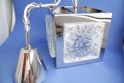 Swedish vintage brass chrome plated Crystal ORREFORS VINTAGE  LAMP 3