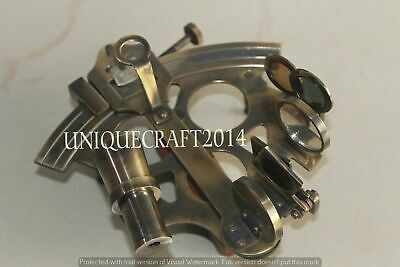 "5"" Solid Brass Nautical Collectible Sextant Vintage Working Ship Perfect Gift. 2"