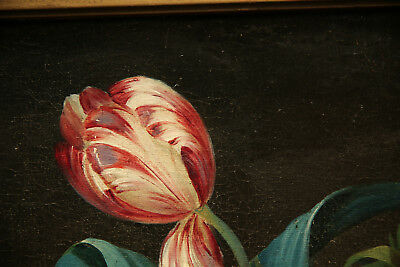 Impressive  Antique 19th Century French Painting Flower Still Life 4