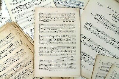 ~~100g OF VINTAGE MUSIC SHEETS - CHRISTMAS CRAFTS. DECOUPAGE CARD MAKING 3