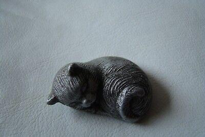 6 Stk. verschiede Katzen für Sammler Porzellan Holz Zinn Ton 4-15cm SÜSS RARITÄT