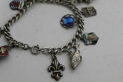 Antique Authentic Hand Made Charming Silver Coins Woman Chain Bracelet 4