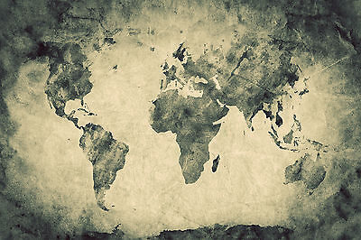 Old World Map Mural.Ancient Old World Map Wall Mural Photo Wallpaper Giant Decor Paper