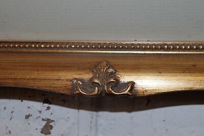 Vintage Gold Gilt Ornate Wood Picture Frame & Print ( Photo Painting ) 7
