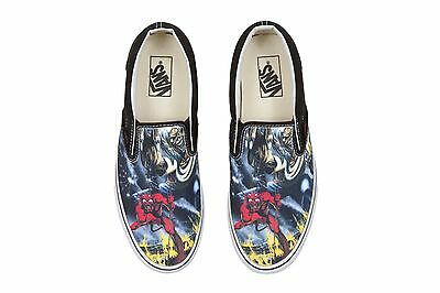 ... Vans classic iron maiden number of the beast slip on limited edition 3 92e5fe640