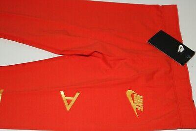 Nike Air Sport Metallic Cotton Leggings Girls - Red Aq9176-634 - M / 10-12 Years 5