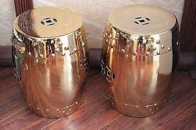 Pair Of Chinese Garden Porcelain Stools or Drum Tables 7
