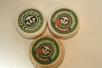 Puppenstube Kaufmannsladen Schaugericht 3x Champignon Camembert Pappe Käse 4