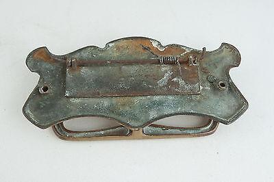 Mid Century or Earlier Brass Mail Slot w/Door Knocker (ST2) 3