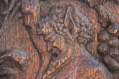 Vintage French Carved Oak Satyr/Bacchant Panels 7