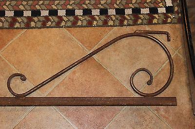 "Antique Cast Iron Steel Bed Rail Garden Trellis Railing-82"" L-Architectural-#1 3"