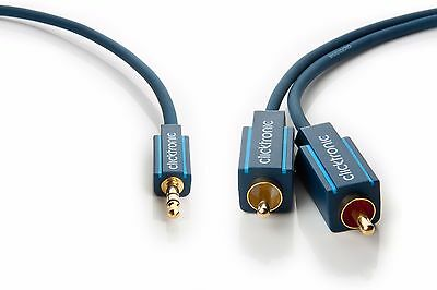 10,00m Clicktronic Casual MP3 Klinke 3,5mm / 2x Cinch Kabel Phono RCA 10,0m 10m