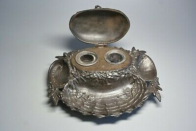 Antique Modern Style German Cast Iron Zimmermann in Hanau 11212 Inkwell 2