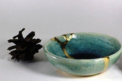 Kintsugi - Blue Chidori ( Small ) 7