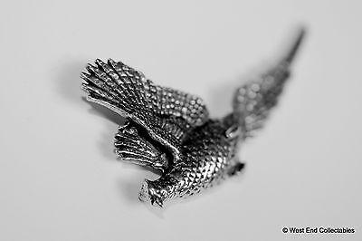 Rising Pheasant Pewter Pin Brooch-British Artisan Signed Badge- Shooting Hunting 4