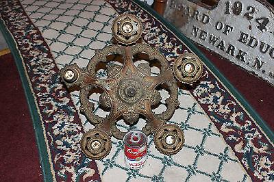 Antique Victorian Art Deco Ceiling Chandelier Light Fixture-Lion Electric Co. 12 • CAD $254.04