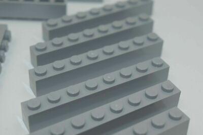 Flat 1x8 4 x lego 3460 Plate Light Bluish Grey Gray Grey New New