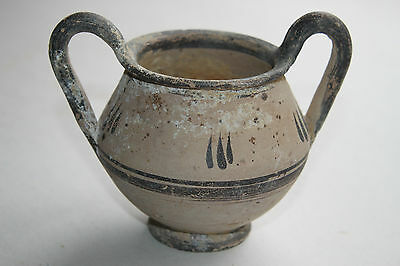 ANCIENT GREEK HELLENISTIC  POTTERY KANTHAROS 3rd CENT BC 3