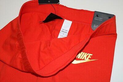 Nike Air Sport Metallic Cotton Leggings Girls - Red Aq9176-634 - M / 10-12 Years 10
