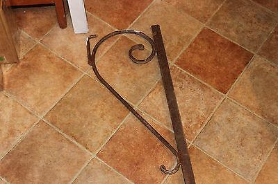 "Antique Cast Iron Steel Bed Rail Garden Trellis Railing-82"" L-Architectural-#1 7"