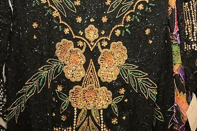 "Jasdee Vintage Dress Length 45"" Inch Hand Work Bead & Sequins On Silk Style 1174 3"