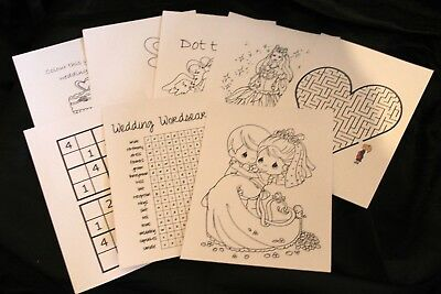 Personalised Childrens Kids Wedding Activity Pack Party Bag Favour Box  WB302