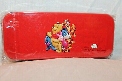 NEW  IN PACKAGE WINNIE THE POOH TIN PENCIL CASE WITH TRAY INSIDE
