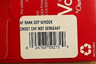 Usaf Us Air Force I/a Multicam Ocp E-9 Hook Back Camouflage Camo Uniform Rank