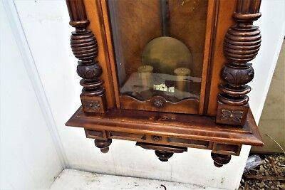 Huge Vienna rare maker movement mahogany cased 5