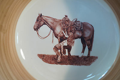 7 of 11 Montana Lifestyles Dinnerware Western Branded Cowboy 16 Pc Set Service 4 New : montana lifestyles dinnerware - pezcame.com