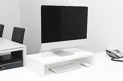 Bildschirm Monitor Erhöhung Tv Schreibtisch Aufsatz Hochglanz Weiß B