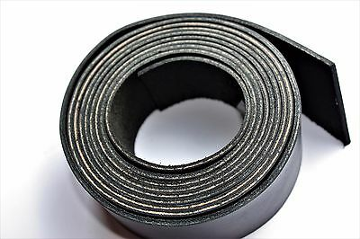 200 cm long BLACK LEATHER STRAP BELT BLANK STRIP width 10-100 mm 2 mm thick 5