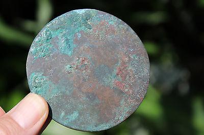 Islamic bronze mirror with Arabic ornaments, 700-800 AD, 6.5 cm 9