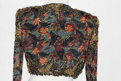 Jasdee Vintage Bolero Jacket Hand Work Bead & Sequins & HandPrint On Silk # 2020 3