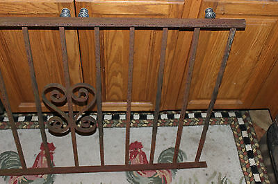 Vintage Wrought Cast Iron Architectural Garden Yard Art Fence Railing-LQQK 4