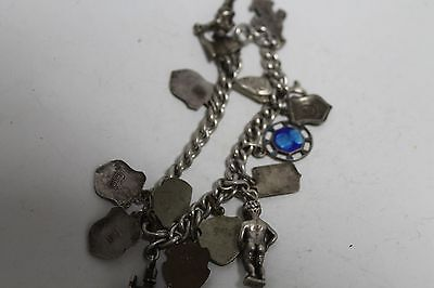 Antique Authentic Hand Made Charming Silver Coins Woman Chain Bracelet 10