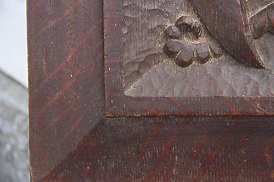 19C English Carved Oak Welsh Winged Dragon Griffin/Gargoyle/Shield 10