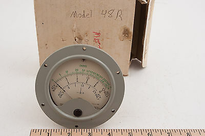 Hickok Electrical Instrument Gauge 48R Steampunk (E3R-2) Ohms Meter 481 345 c58 7