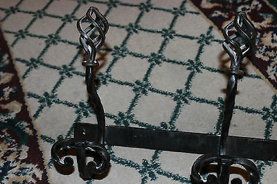 Interesting Gothic Medieval Iron Clothes Rack Plant Holder-Spiral Twist-LQQK