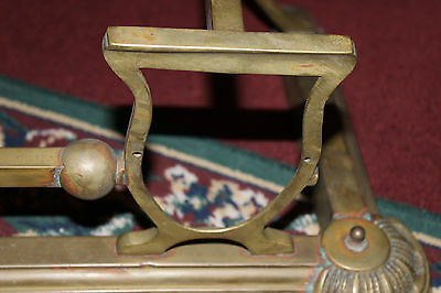 "Antique Fireplace Fender Surround Skirt-Copper & Brass-52"" Long-Arts & Crafts 11"