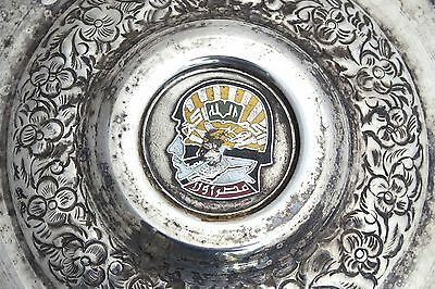 Vintage Arabian Military Silver Plated Box Coat of Arms Soldier Army Islamic 10