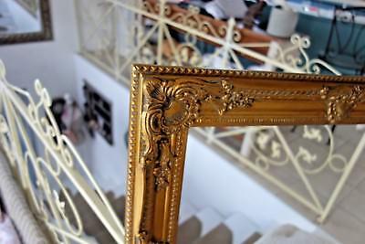 Großer Bilderrahmen Gemälde Foto Barock Rahmen Holz Gold 54x44 cm Antik Look NEU 4