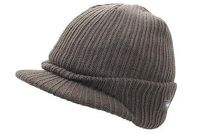 065fbf5f ... Unisex Mens Ladies Peaked Beanie Thinsulate Thermal Winter Ski Hat With  Peak 4