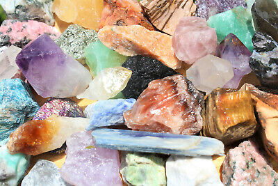 Bulk Crafters Collection 1/2 lb Box Gems Crystals Natural Raw Mineral 250g Rocks 5